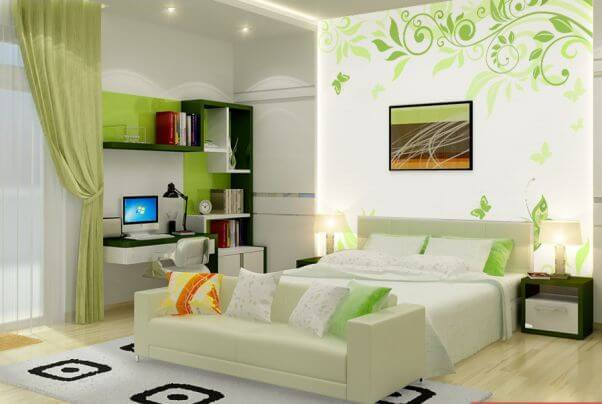 giay dan tuong phong ngu a 5 cách chọn giấy dán tường thích hợp cho phòng ngủ