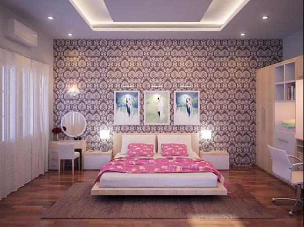 giay dan tuong phong ngu a5 5 cách chọn giấy dán tường thích hợp cho phòng ngủ