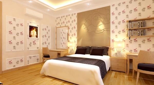 giay dan tuong phong ngu a9 5 cách chọn giấy dán tường thích hợp cho phòng ngủ