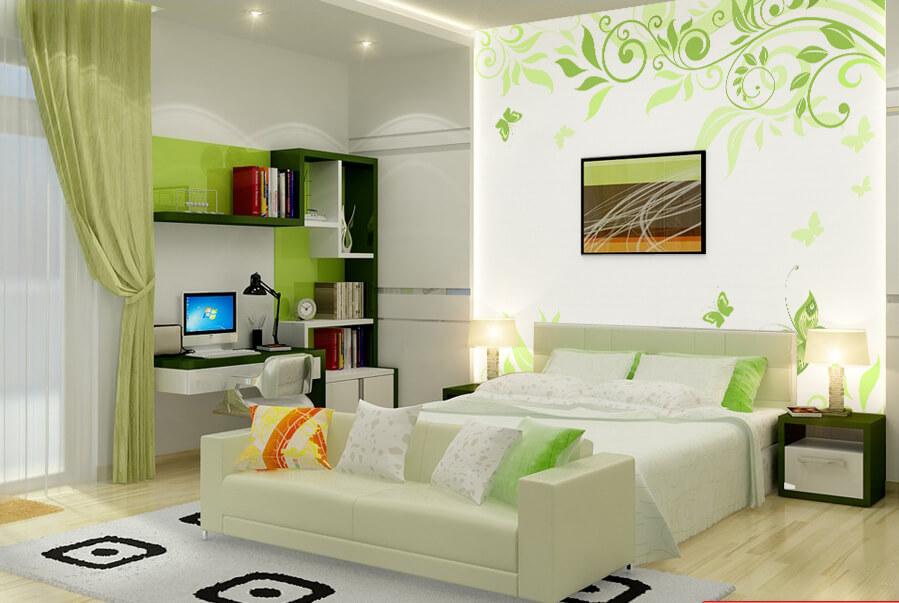 Trang trí căn hộ tại TPHCM tuyệt đẹp với giấy dán tường Hàn Quốc