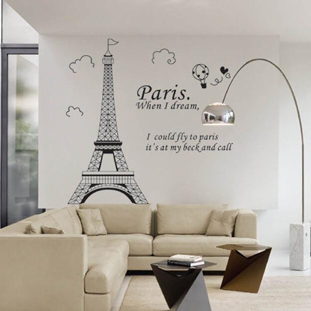 Những mẫu không gian đẹp ấn tượng với giấy dán tường độc đáo