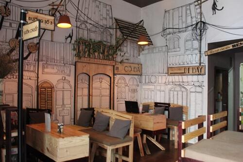 7 Mẫu giấy dán tường kinh điển 'KHÔNG LO LỖI MỐT' cho quán cafe