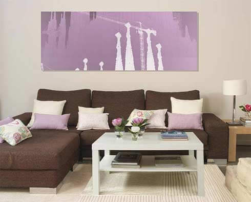 Những mẫu giấy dán tường đẹp cho phòng khách nhỏ
