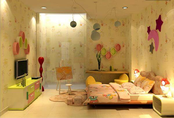Sáng tạo phòng ngủ cho bé từ các mẫu giấy dán tường