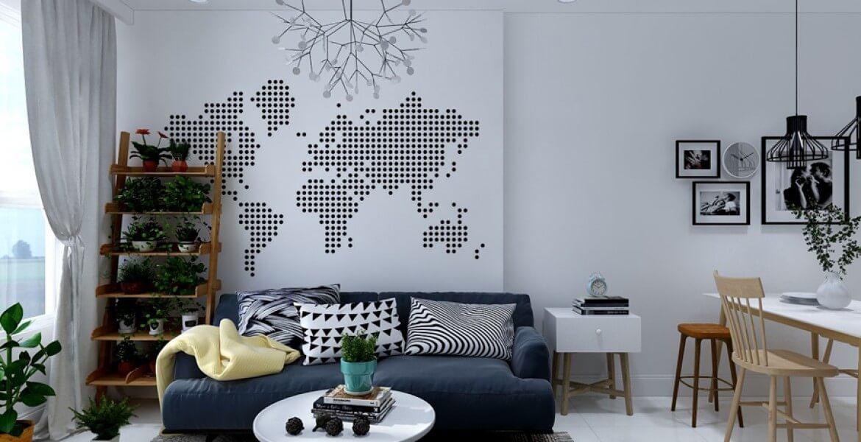 Giấy dán tường đẹp phòng khách