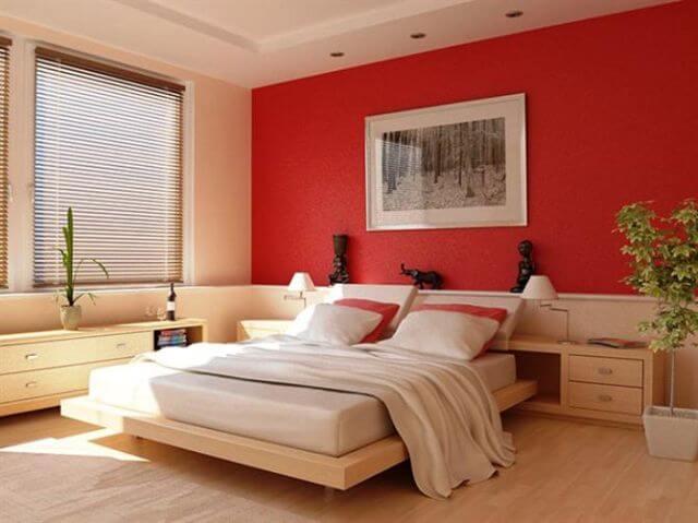 Giấy dán tường màu đỏ