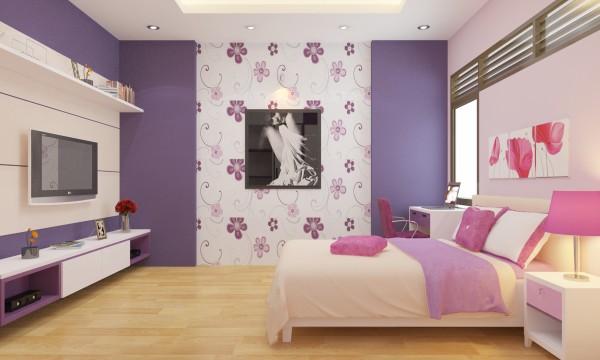 Giấy dán tường màu tím