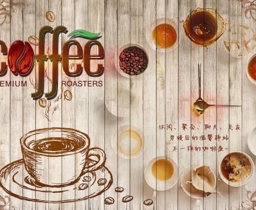 Tranh Dán Tường Quán Cafe 7724