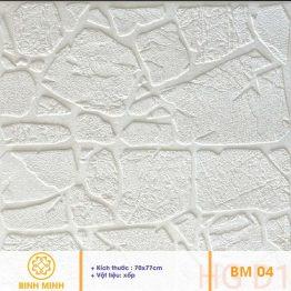 Xốp dán tường giả đá trắng