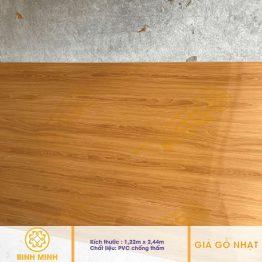 Tấm pvc giả gỗ nhạt