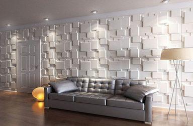 Trang trí nội thất biệt thự bằng tấm ốp tường 3D