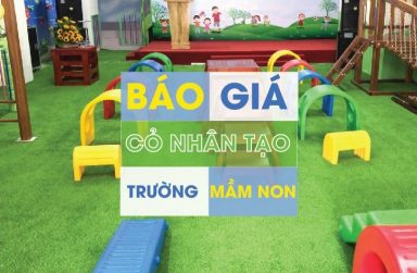 Thi công sân cỏ nhân tạo trường mầm non tại Đà Nẵng