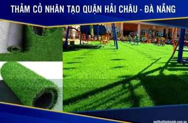 Báo giá cỏ nhân tạo, thi công cỏ sân bóng tại Hải Châu, Đà Nẵng.