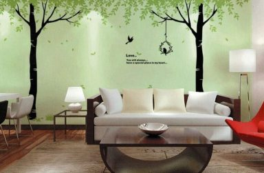 """""""Bật mí"""" trang trí quán cafe bằng giấy dán tường 3D Đà Nẵng"""