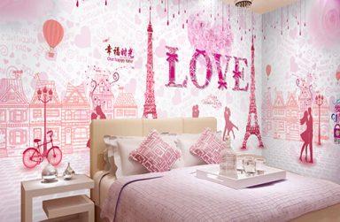 Giấy dán tường màu hồng đẹp giá rẻ, giấy Hàn Quốc 2019