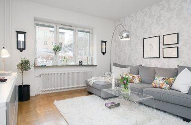 Giấy dán tường màu trắng, tuyệt chiêu sở hữu không gian sống hiện đại