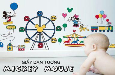 +10 Mẫu giấy dán tường chuột micky dành cho bé cực đáng yêu.