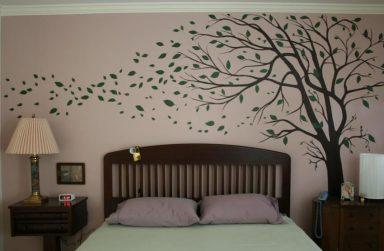 Cuộc sống năng động với giấy dán tường phòng ngủ hiện đại