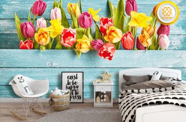 Top 99+ mẫu tranh dán tường phòng ngủ 3D đẹp, giá rẻ nhất 2021