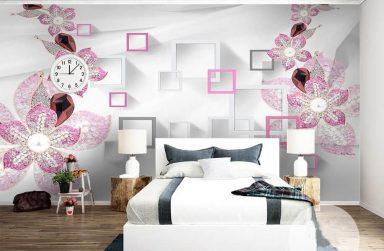 Sống động với giấy dán tường phòng ngủ 3D