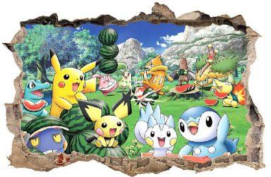 Top 3 mẫu giấy dán tường Pikachu đáng yêu trang trí phòng ngủ cho bé.