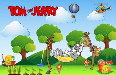 +10 mẫu giấy dán tường Tom and Jerry cho phòng ngủ bé trai đẹp nhất 2021.