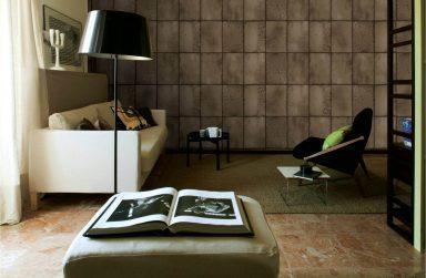 """Công thức """"vàng"""" cho không gian nhà độc đáo với giấy dán tường vân gỗ"""