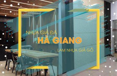 Thi công tấm nhựa giả đá, thanh lam ốp tường tại Hà Giang