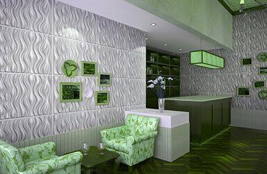 Tấm ốp tường 3D tại Huế – Tấm ốp tường 3d trang trí A.H Coffe