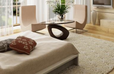 Bật mí màu sắc thảm trải sàn giúp phòng ngủ ấm áp hơn
