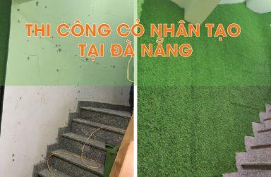 Kí sự thi công cỏ nhân tạo dán cầu thang, lam nhựa giả gỗ ốp tường