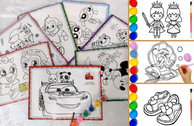 +999 mẫu tranh tô màu cho bé 5 tuổi đẹp, tranh tô màu theo số đơn giản.
