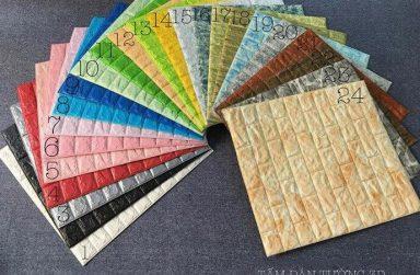 Xốp dán tường 3D giá bao nhiêu tiền? xốp giả gỗ, giả gạch, da